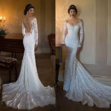 lace mermaid wedding dress 2016 new the shoulder lace mermaid wedding