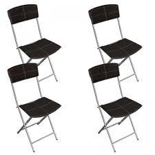 chaises pliables lot de 4 chaises pliables en simili cuir marron