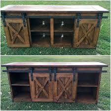 barn door side table barn door tv stand console stand entertainment center barn door