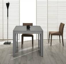 Modern Extendable Dining Table Modrest Morph Modern Ultra Compact Extendable Grey Gloss Dining