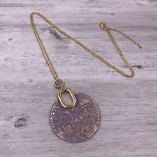 gold long necklace images Gold long necklace with pink round acetate pendant it 39 s a bling jpg