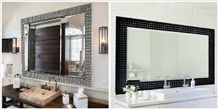 Bathroom Vanity Mirror With Lights Outstanding Framed Bathroom Vanity Mirrors Home Design Ideas