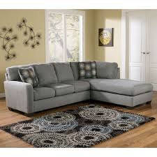 Right Sectional Sofa Zella Charcoal Right Facing Chaise Sectional Signature Design By
