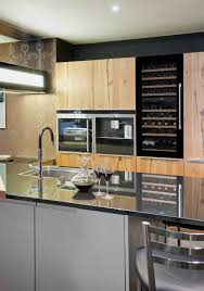 cuisine avec cave a vin avintage électroménager equipments for your fitted kitchen