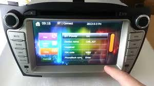hyundai tucson ix35 dvd player radio gps navigation bluetooth