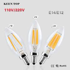 Spotlight Chandelier E12 E14 Led Filament Bulb Lada Led L Edison Bulb Spotlight
