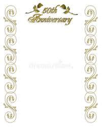 50th wedding anniversary program 50th wedding anniversary invitation stock illustration