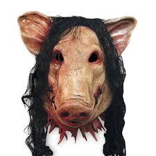 amazon com winomo halloween pig head mask and hair creepy animal