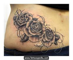 collection of 25 lower back roses and vine design