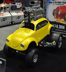 yellow baja bug just a car guy 2 zingers are at sema and bob larivee sr