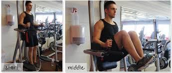 Chair Gym Com Captains Chair Knee Raise 212 More Effective Than Crunches