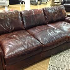Lancaster Leather Sofa Restoration Hardware Leather Sofa For Sale Italian Brompton