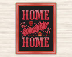 creepy home decor buy 2 get 1 free home scary home cross stitch pattern blood