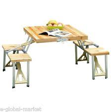 Folding Wood Picnic Table Wooden Folding Picnic Table Ebay