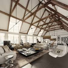 hanging bubble chair living room high ceiling stock photos