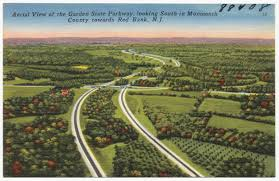 Garden State Parkway Map Aerial View Of The Garden State Parkway Looking South In Monmouth