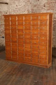 Wood Storage Cabinets With Drawers Vintage Industrial Wood Storage Unit Or Multi Drawer Cabinet At