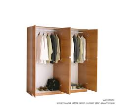 4 door set of hanging wardrobe closets item 19135
