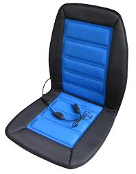 Office Chair Covers Amazon Com Abn Heated Seat Cushion U2013 12v Adjustable Temp In Blue