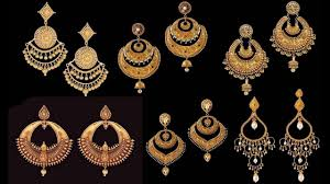 bengali gold earrings beautiful chand bali earrings designs in gold bengali jewellery