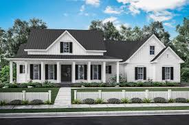 Wrap Around Porch Floor Plans Manor Farm House Plan Open Living Area House Plans Design And