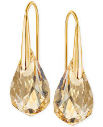gold drop earrings swarovski gold tone chagne drop earrings jewelry