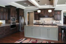 dark brown kitchen cabinets grey island contrast kitchen dark brown kitchen cabinets grey island contrast