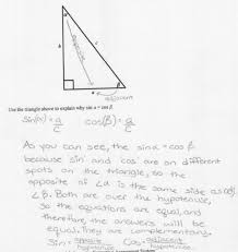 Sin Cos Tan Worksheet Sine And Cosine Students Are Asked To Explain The Relationship
