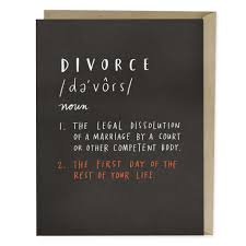 congratulations on your divorce card definition of divorce card emily mcdowell studio