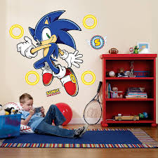 sports themed wall decals walmart com sonic the hedgehog giant wall decals
