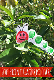 the very hungry caterpillar toe print craft for kids crafty morning