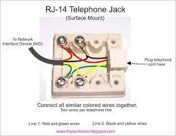 phone jack wiring diagram