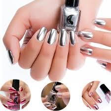 6ml fashion gold silver mirror metallic nail polish silver mirror