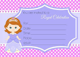 sofia birthday invites