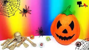 halloween pumpkins cartoons giant halloween pumpkin surprise egg play doh youtube