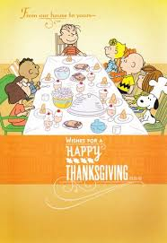 brown and friends peanuts thanksgiving card from our