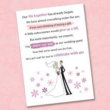 Card Inserts For Invitations Wedding Invitation Wording For A Monetary Gift U2026 Pinteres U2026