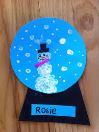 snowman in a snow globe winter art project winter art marble