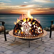Large Firepits Large Copper Bowl Pit Set Modern Wood Fence Designs
