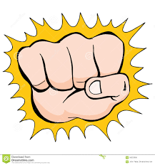 fist punch sketch stock vector image 56032996