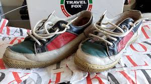 Rare vintage travel fox sportivissime sneakers shoes leather 80s