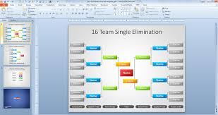 free tournament brackets template for powerpoint free powerpoint