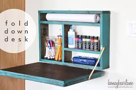 Fold Out Desk Diy Painted Fold Desk Honeybear