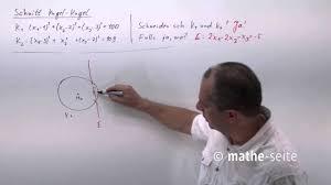 kugeloberfl che berechnen schnittpunkt kugel kugel berechnen beispiel 1 v 06 10