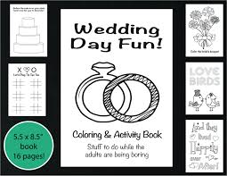 wedding coloring and activity book reception game kid u0027s