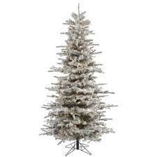 flocked slim tree wayfair