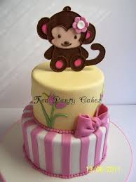 monkey baby shower cake baby shower cakes with monkeys for girl