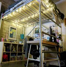 Plans To Build A Bunk Bed Ladder by Diy Full Size Loft Bed For Adults With Plans To Build Your Own