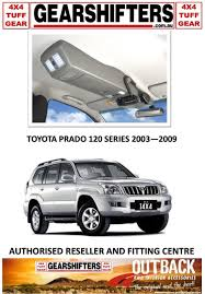 outback accessories roof console off road 4x4 toyota prado 120