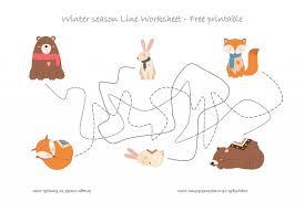 forest animals line worksheet free printable creative kitchen